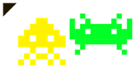 Space Invaders Yellow and Green