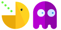 Yellow and Purple Pac-Man