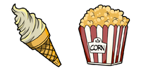 Ice cream and popcorn